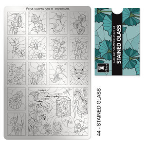 Moyra Stamping Plate 44 Stained Glass