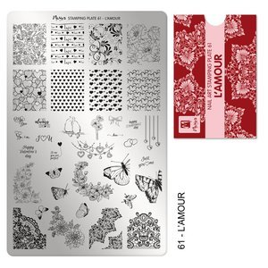 Moyra Stamping Plate 61 L`amour