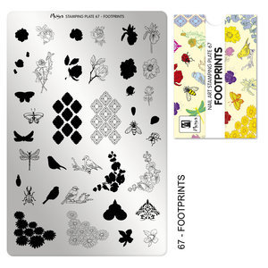 Moyra Stamping Plate 67 Footprints