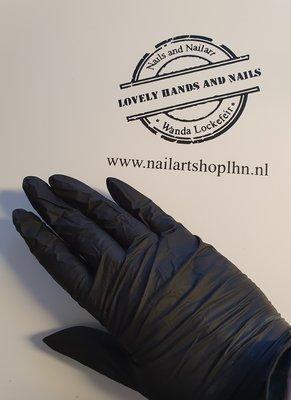Nitril Handschoenen Zwart Maat M ongepoederd