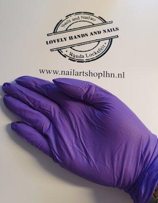 Nitril Handschoenen Paars Maat M ongepoederd