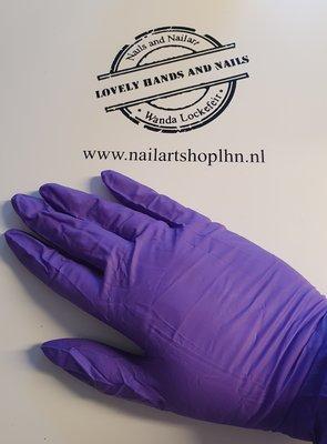 Nitril Handschoenen Paars Maat L ongepoederd