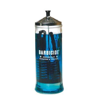 Barbicide desinfectieflacon 1 liter VergrotenBarbicide desinfectieflacon 1 liter  Barbicide desinfectieflacon, roestvrij edelstaal, dompelaar, 1.1 liter