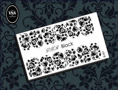 Water Decal/ Slider Lace Black NR B 01