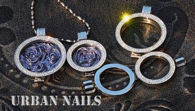 Urban Nails edelstalen Munthouder met strass  24mm