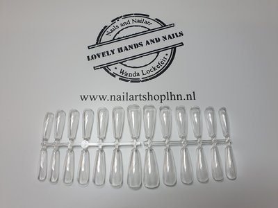 Showtips Coffin Clear (Press Ons`s)